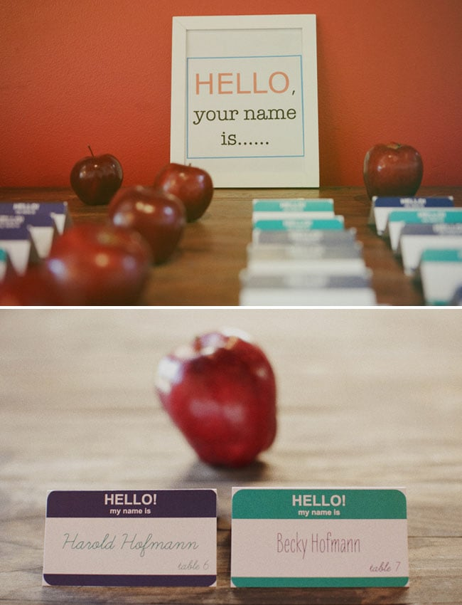 Nametags as Table Cards