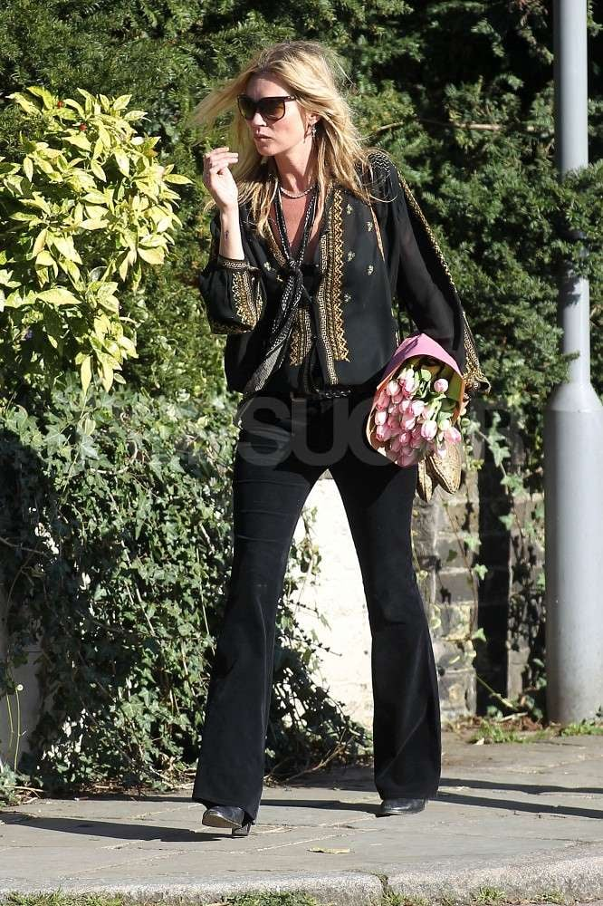 Kate Moss steps out near her home in London.