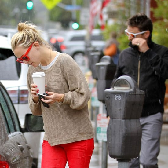 Kate Hudson Red Jeans Pictures in LA With Matt Bellamy