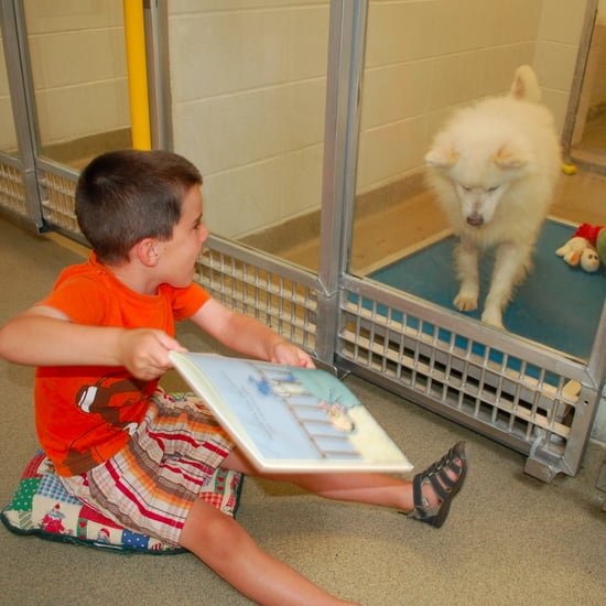 Kids Reading Books to Dogs
