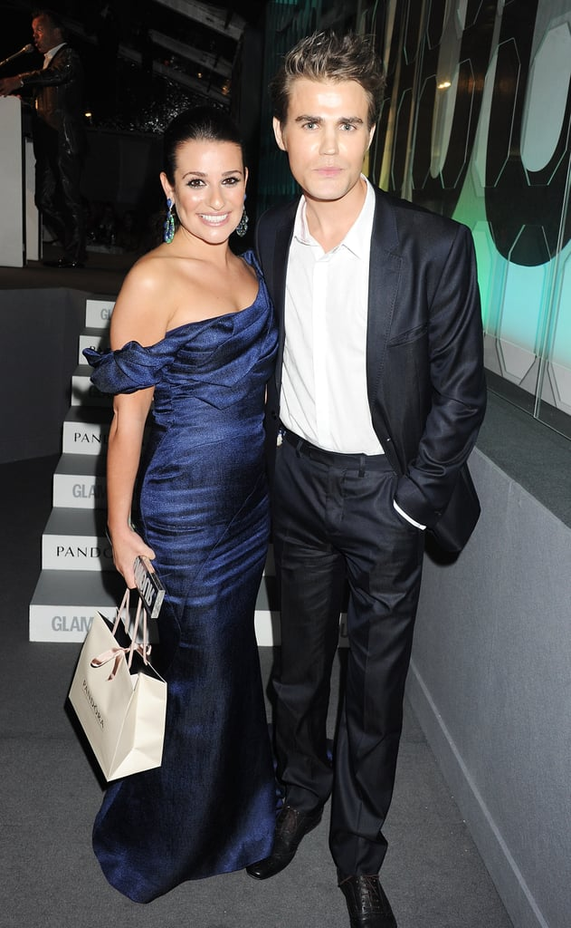 Lea and The Vampire Diaries star paul Wesley met up at the Glamour Women of the Year Awards in London in May 2012.