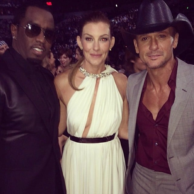 Diddy snapped a photo with country couple Tim McGraw and Faith Hill. Source: Instagram user iamdiddy