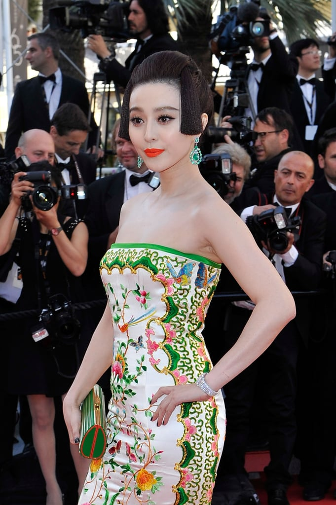Fan Bingbing wore a patterned number on the red carpet at the opening of the Cannes Film Festival.