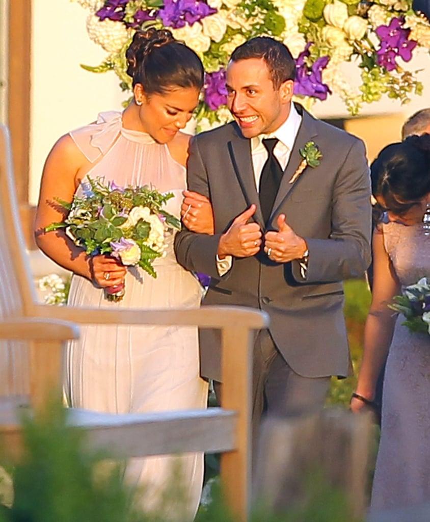 Backstreet Boys member Howie Dorough showed up for Nick Carter's April 2014 wedding in Santa Barbara.
