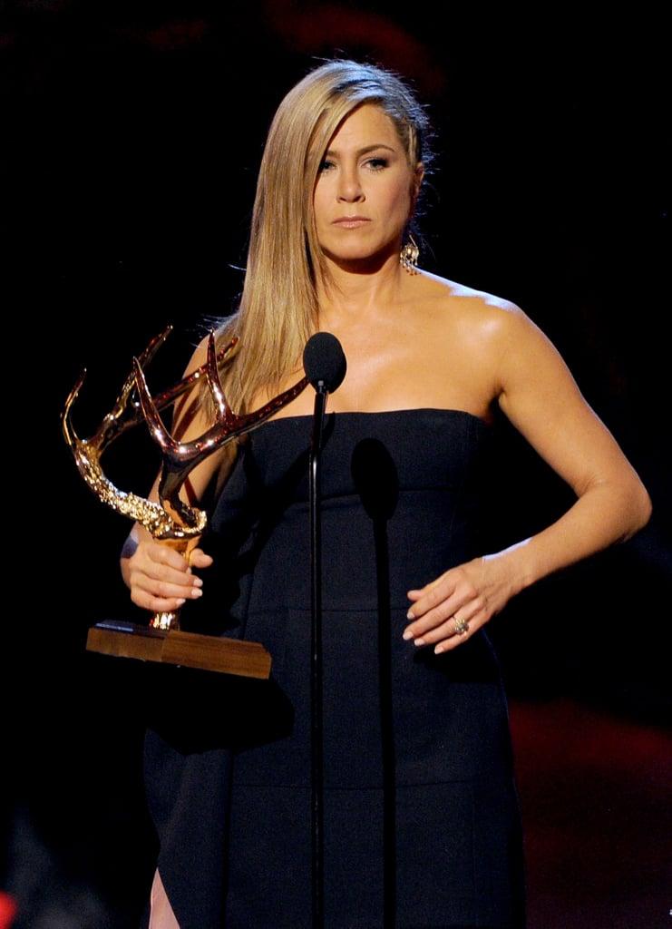 Jennifer Aniston at the Guys Choice Awards.