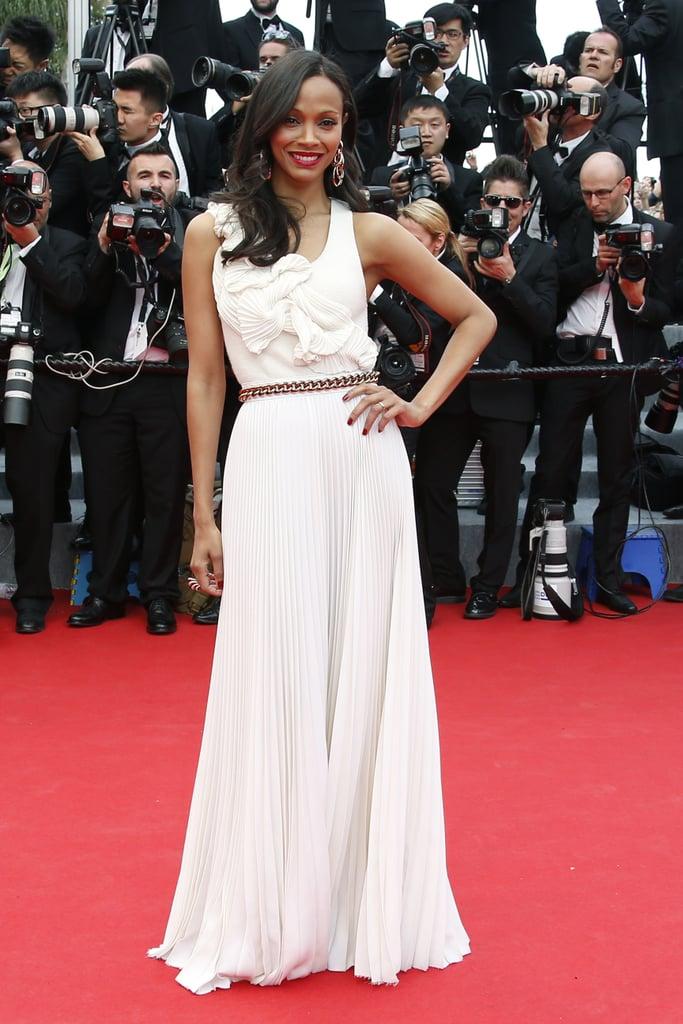 Zoe Saldana at the Grace of Monaco Premiere