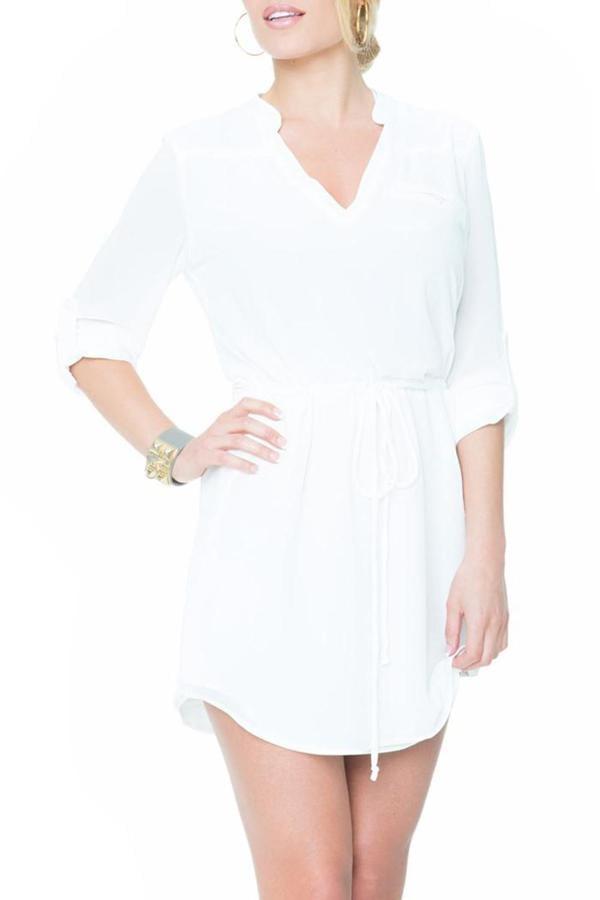 Varga White Shirtdress