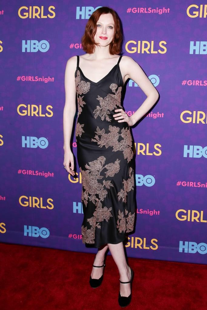 Karen Elson at the Girls premiere.