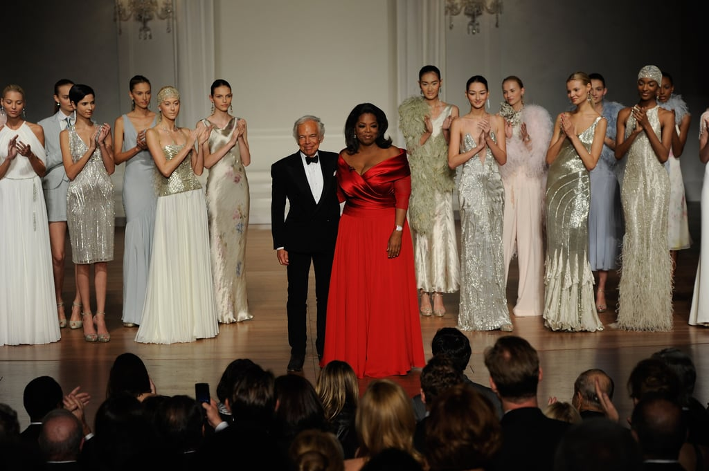 Ralph Lauren and Oprah hit the stage with Ralph's designs.