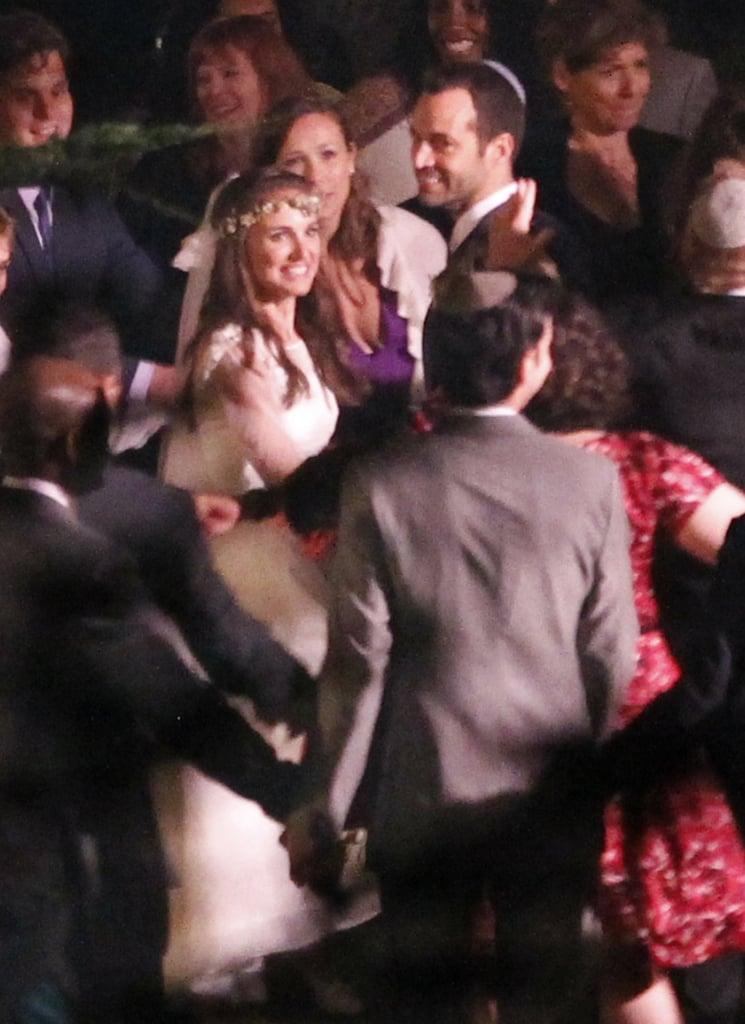 Natalie Portman smiled with Benjamin Millepied at their wedding in Big Sur, CA.