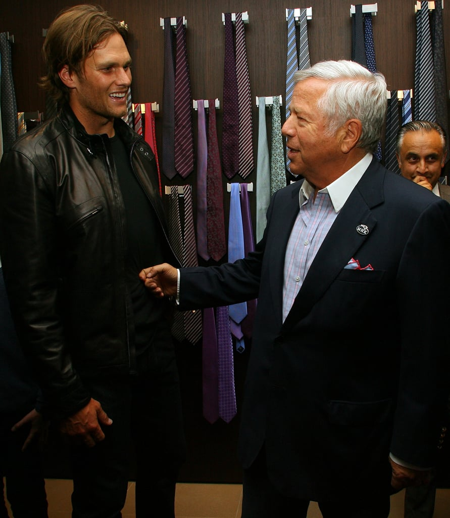 Tom Brady and Robert Kraft at a Boys and Girls Club event in Boston.