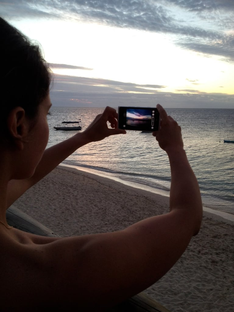 Capturing the picturesque sunset on my Nokia Lumia 900. No filter required.