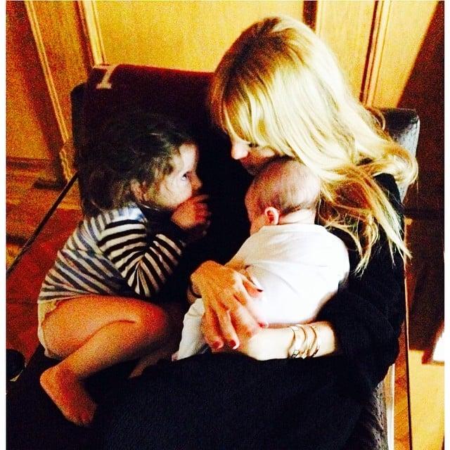 Rachel Zoe got some morning hugs from her sons, Skyler and Kaius. Source: Instagram user rachelzoe