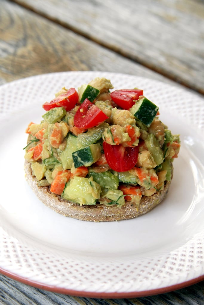 Smashed Avocado Chickpea Salad