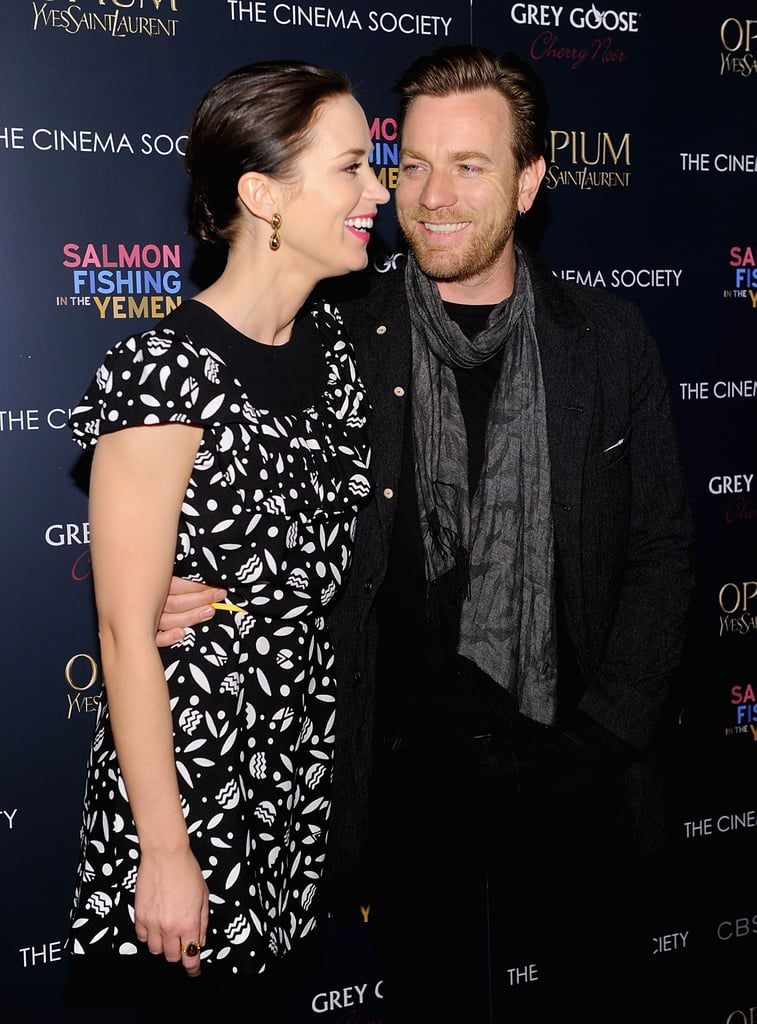 Emily Blunt and Ewan McGregor screened their film in NYC.