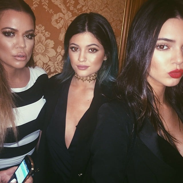 Khloé, Kendall, and Kylie got serious for a sister picture.  Source: Instagram user kyliejenner