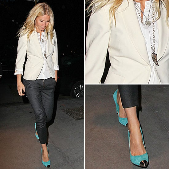 Gwyneth Paltrow White Blazer April 2012