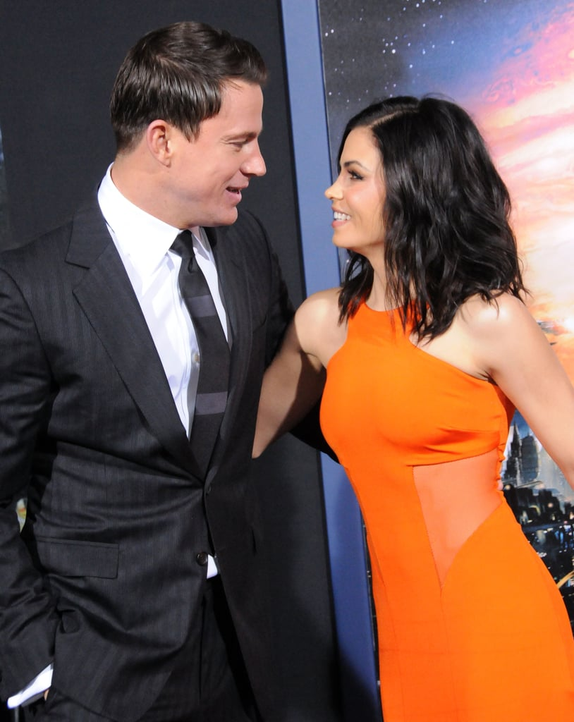 They couldn't take their eyes off each other at the LA premiere of Jupiter Ascending in February 2015.