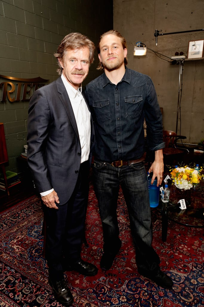 William H. Macy had a moment with Charlie Hunnam.