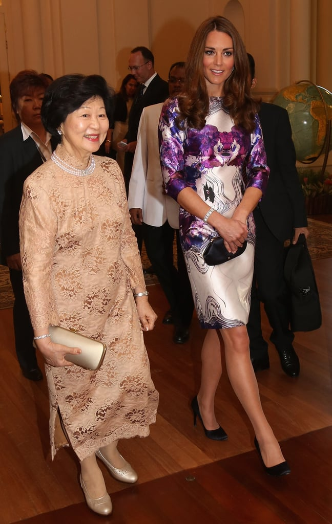 Kate Middleton and Mary Tan walked together.