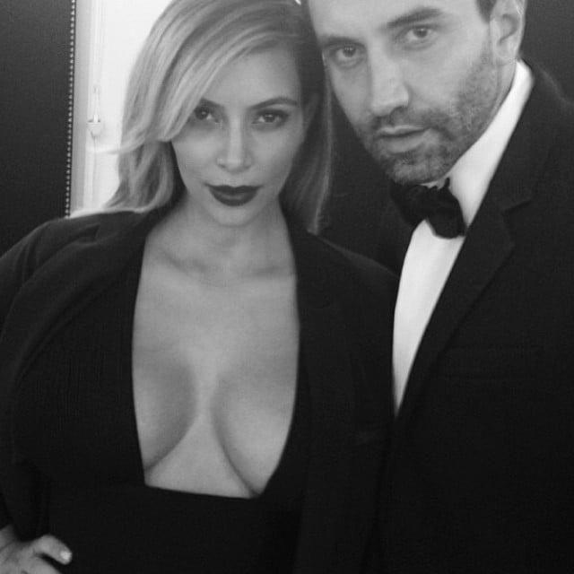 Kim Kardashian attended a fashion event in Paris on the arm of Givenchy designer Riccardo Tisci. Source: Instagram user kimkardashian