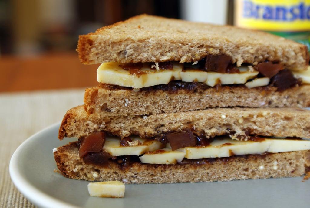 British Pub Grub: Cheese and Pickle Sandwich