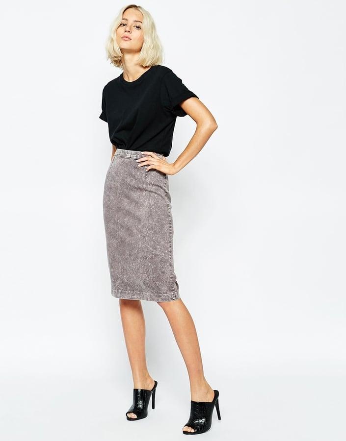 Cheap Monday Denim Pencil Skirt