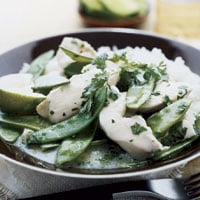 Fast & Easy Dinner: Coconut Chicken With Snow Peas