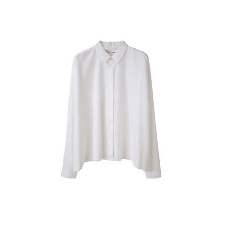 This classic white button-down will go with everything from trousers to skirts and back again. Rag & Bone Sung Shirt (approx $182)
