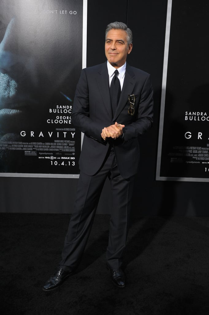George Clooney arrived at the Gravity premiere in NYC.