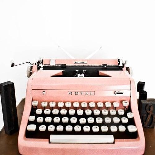 Pink Vintage 1950s Typewriter on Etsy