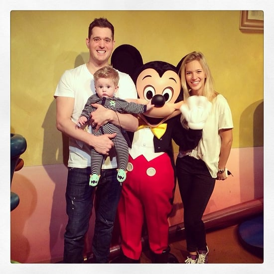 Michael Bublé's Baby, Noah, Meets Mickey!