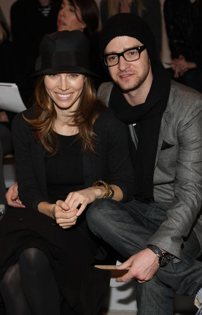 The couple sat front row at NY Fashion Week in February 2010.
