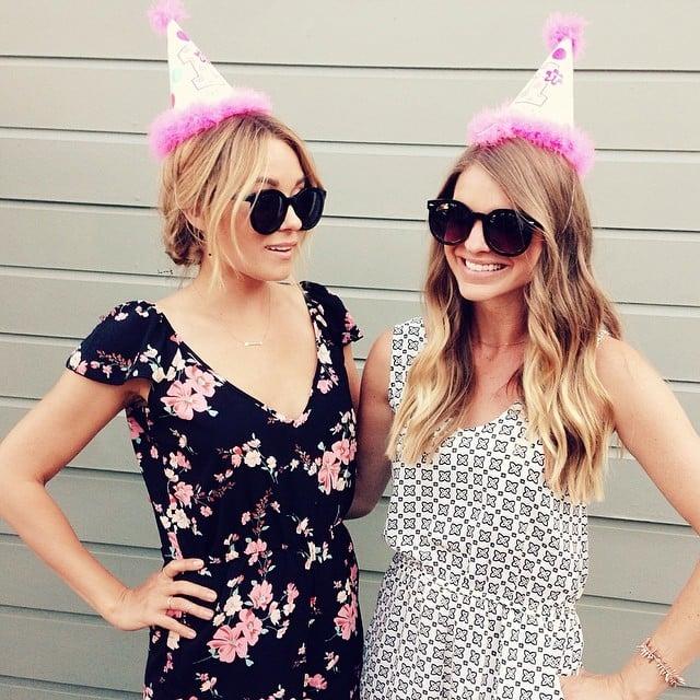 Lauren Conrad put her party hat on. Source: Instagram user laurenconrad