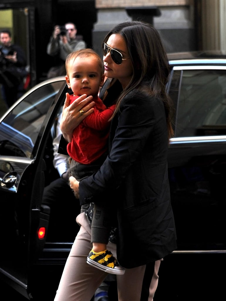 Miranda Kerr Takes Flynn Bloom and Frankie Out in NYC