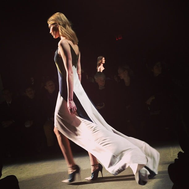 Flowing gowns at Narciso Rodriguez.