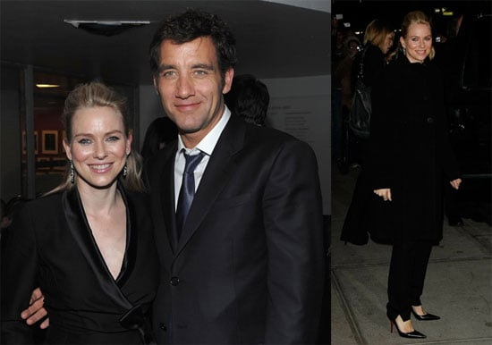 Photos of Clive Owen and Naomi Watts, Video of Naomi on The Late Show, Interview With Clive About Kids and Jennifer Aniston