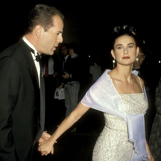 Bruce Willis and Demi Moore made a grand entrance at the 1990 award show.
