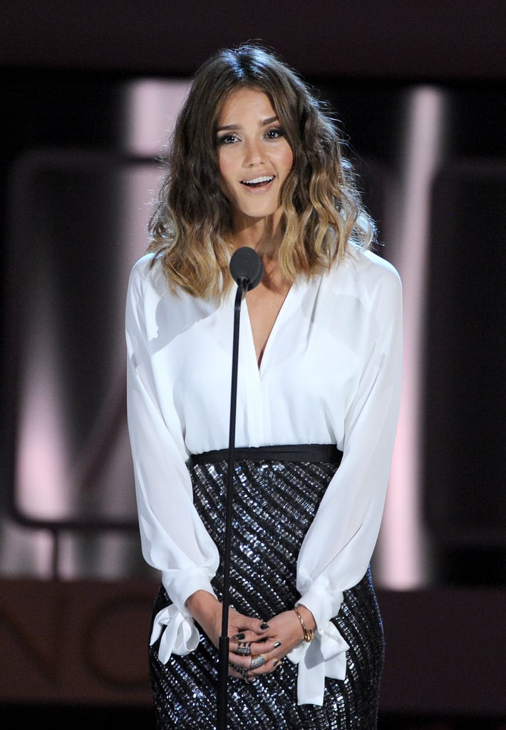 Jessica Alba took to the stage at the ALMA Awards.