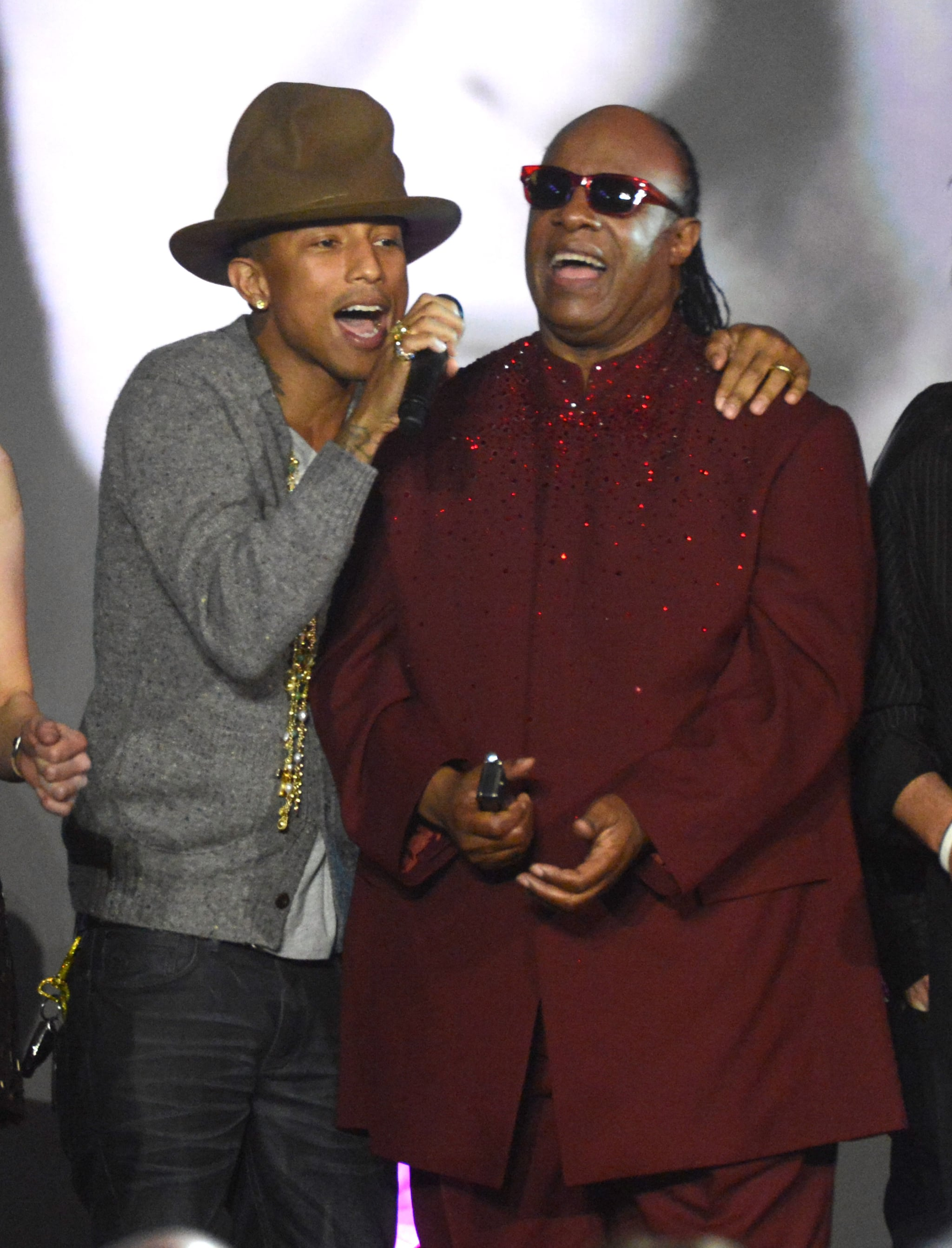 The hat brought down the house with Pharrell and Stevie Wonder during a Grammys salute to The Beatles.