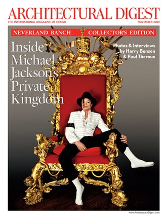 November's Architectural Digest Features Michael Jackson's Neverland Ranch