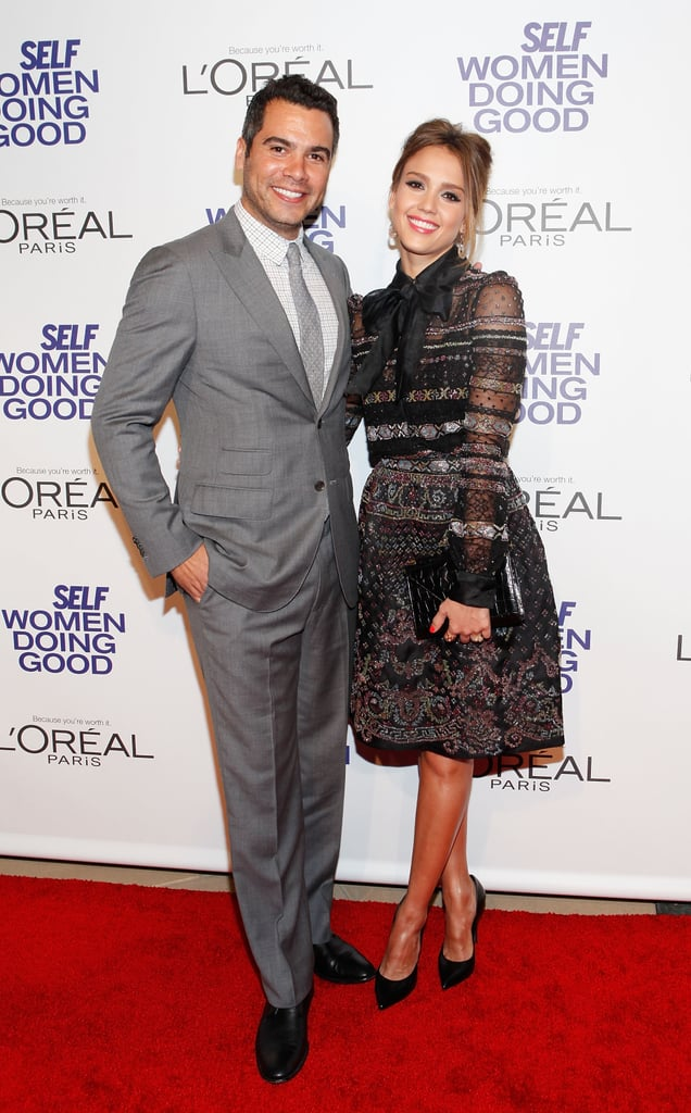 Jessica Alba hit the red carpet with husband Cash Warren for the  Self magazine Women Doing Good Awards in NYC.