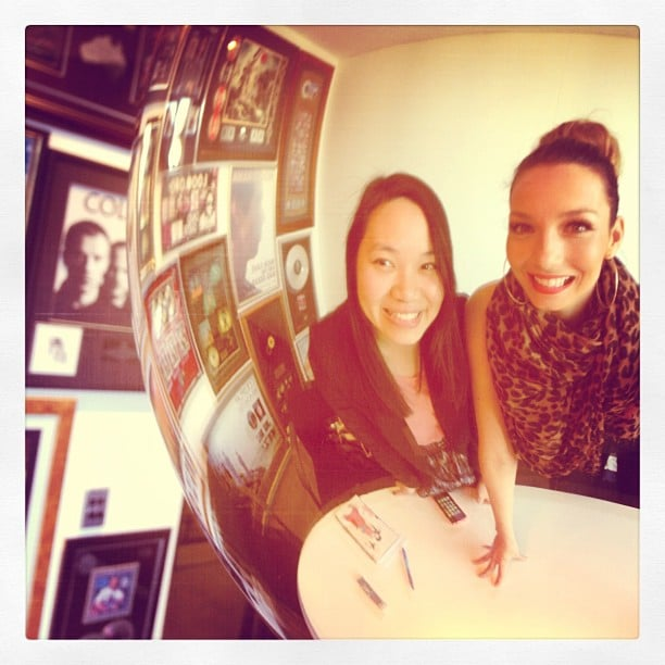 Ricki-Lee posted a picture from our interview with her during the week! Source: Instagram user therickilee