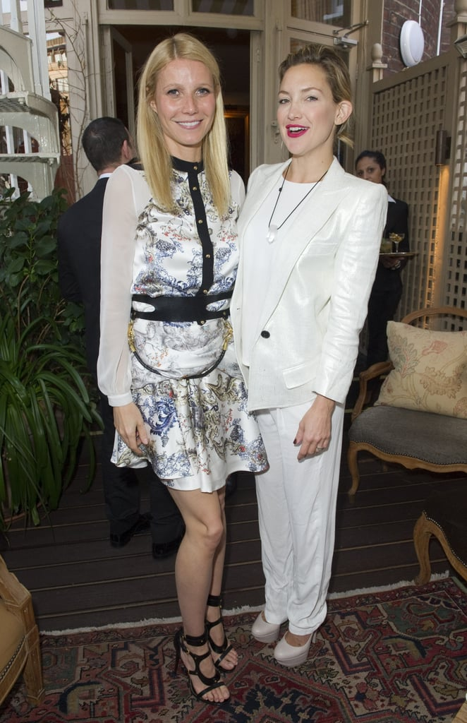 Gwyneth Paltrow posed with Kate Hudson at the Goop Summer party in London.