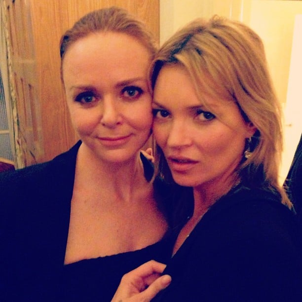 Kate Moss came out to support Stella McCartney at her Hong Kong Winter collection launch. Source: Instagram user stellamccartney
