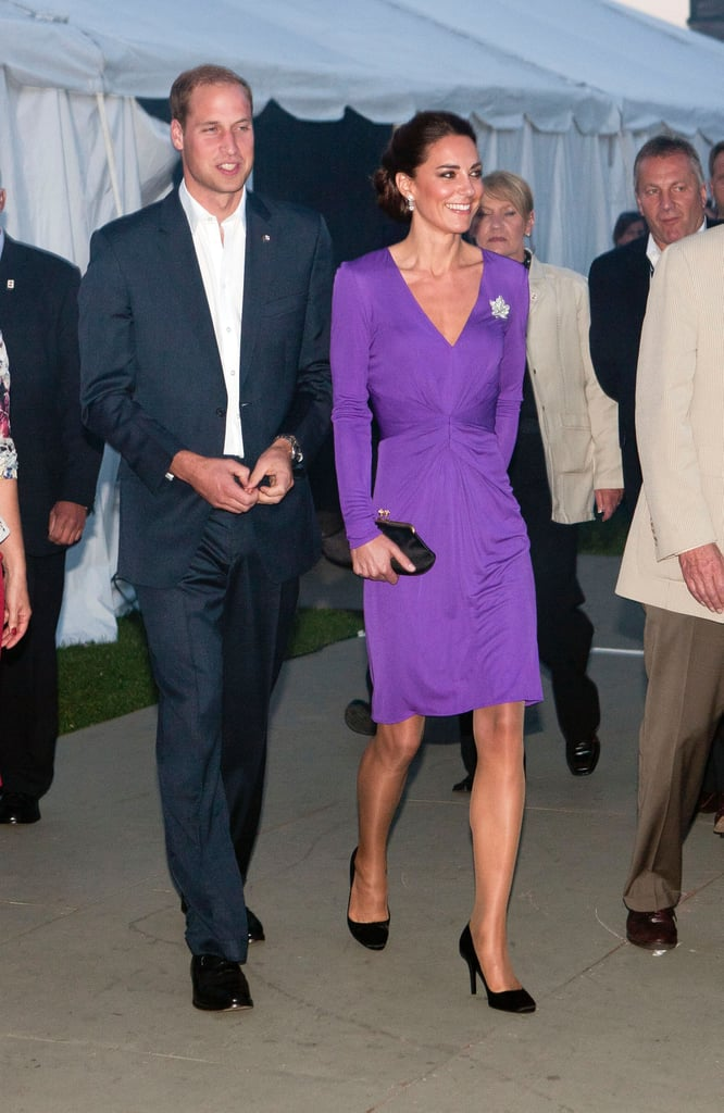 Kate Middleton donned a purple frock for a special event in Ottawa, Canada, during her royal visit in July 2011.