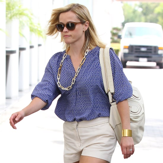 Reese Witherspoon Wearing Khaki Shorts