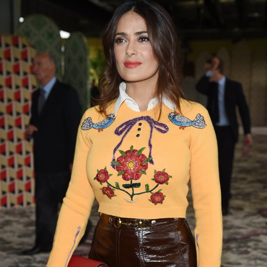 Salma Hayek at the Gucci Show Milan Fashion Week