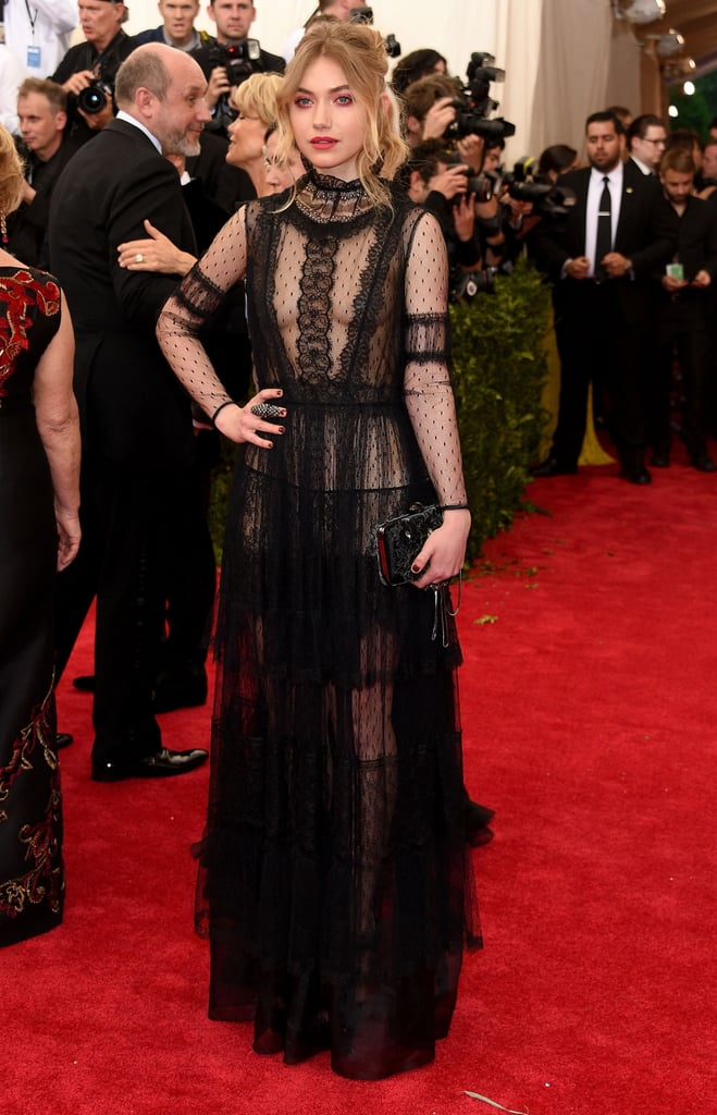 At the 2015 Met Gala, Imogen toed the line between sexy and sophisticated in a sheer but high-necked Alberta Ferretti gown.