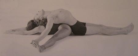 Partner Yoga Pose:  Seated Straddle Lounge
